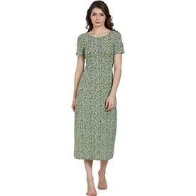 c49671bce8 Blush By Prettysecrets Cotton Long Night Dress - Multi-Color