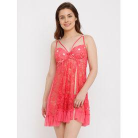 d7702ea892 Heart 2 Heart Lacy Romeo Babydoll - Pink (Free Size)