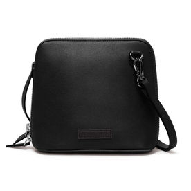 DailyObjects Black Faux Leather - Trapeze Crossbody Bag 8b077d311f350