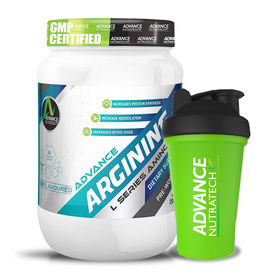 Advance Nutratech Arginine Aminos Unflavoured Powder With Shaker Combo