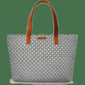 7e72740f7522 DailyObjects Dark Gray Swiss Dots Fatty Tote Bag