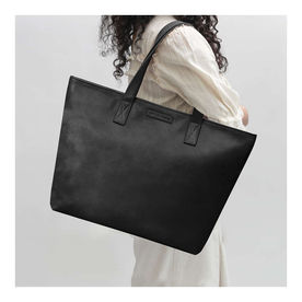 754678848f DailyObjects Black Faux Leather Fatty Women s Tote Bag