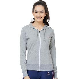 ddcb0011d2 Tuna London Grey Cotton Lycra Solid Jacket For Women
