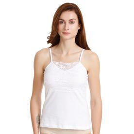 a4e9e751cc Zivame High Neck Lacy Camisole- White