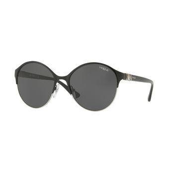 a0d8948f87 Vogue Grey on Black Silver Frame Sunglasses - 0VO4049S 352 87 at ...