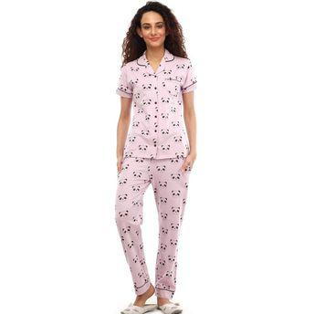 77e17b97b9 Nite Flite Cute Panda Cotton Pajama Set - Pink at Nykaa.com