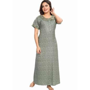 42dbecb7a0 9shines Label Summer Alpine Nighty For Women - Green at Nykaa.com