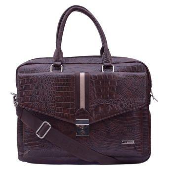 Esbeda Brown Color Big Size Croco Laptop Bag at Nykaa.com 266a95668768b