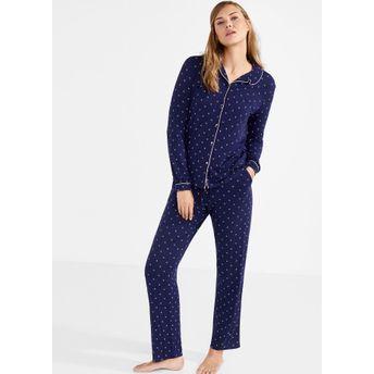 6306f46682 Women secret Pretty Pyjama Set - Blue at Nykaa.com