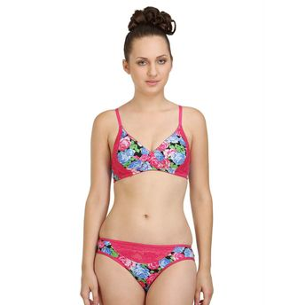 2129d30ead ... Bra   Panty Set In Poly Cotton - Multi-Color. Wristwatch by Ted Baker  London