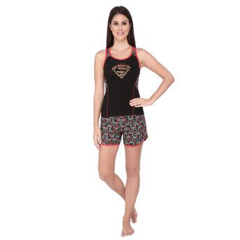 019035ca46 Soie Sets - Buy Soie Women s Printed Black Top   Shorts Set - Black ...