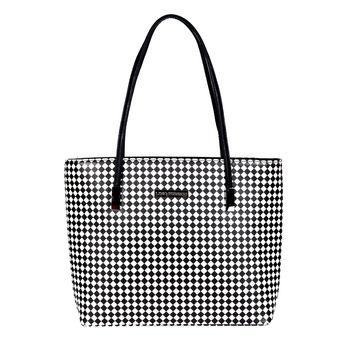 c7718bbb93 Lino Perros Black-White Leatherette Handbag