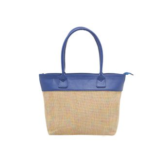 Tarusa Tote Bags - Buy Tarusa Blue Faux Leather Textured Tote Bag ... 355113c476d99