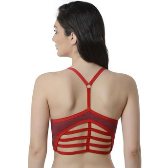 431186f002 Da Intimo Lightly Padded Bralette - Red at Nykaa.com