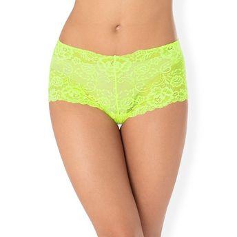 0b077d8073229 PrettySecrets Sexy Lace Boyshort - Neon Green at Nykaa.com