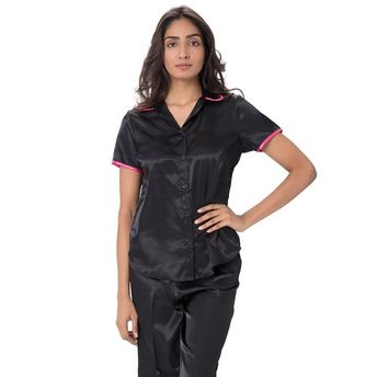 Pretty Secrets Satin Top   Pajama Set Black at Nykaa.com 469145f49