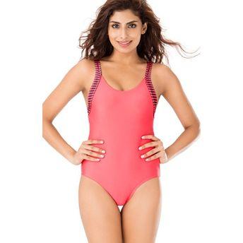 1b82005b4b9d2 PrettySecrets Coral Scoop Back Swimsuit (M), at Nykaa.com