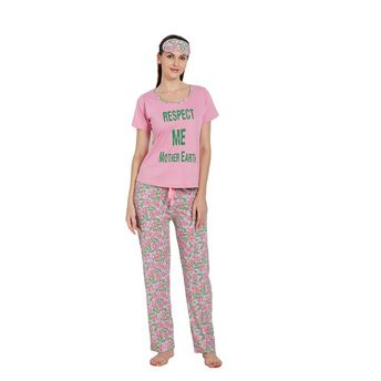 2218219dec Libertina Pink Color Cotton Hosiery Tshirt   Pajama Set For Women at ...