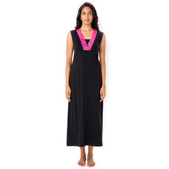 a9a7aa0872 PrettySecrets Nightdress - Buy Prettysecrets Cotton Lace Trim ...