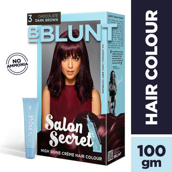 d3f18ea3eb BBLUNT Salon Secret High Shine Creme Hair Colour - Wine Deep Burgundy  4.20(100gm+8ml)