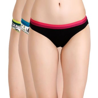 a8fd622ee7 Zivame Cotton Print n Solid Bikini Panty at Nykaa.com