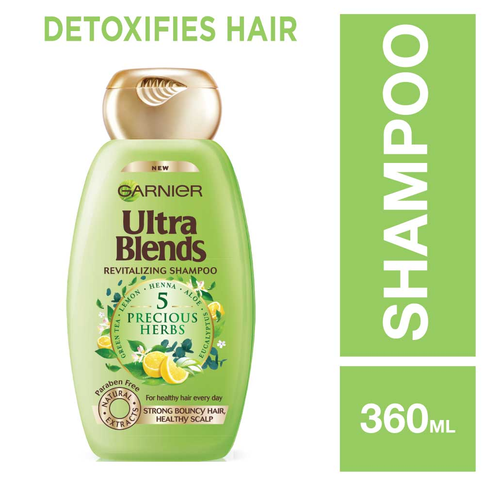 Garnier Ultra Blends 5 Precious Herbs Shampoo (340ml)