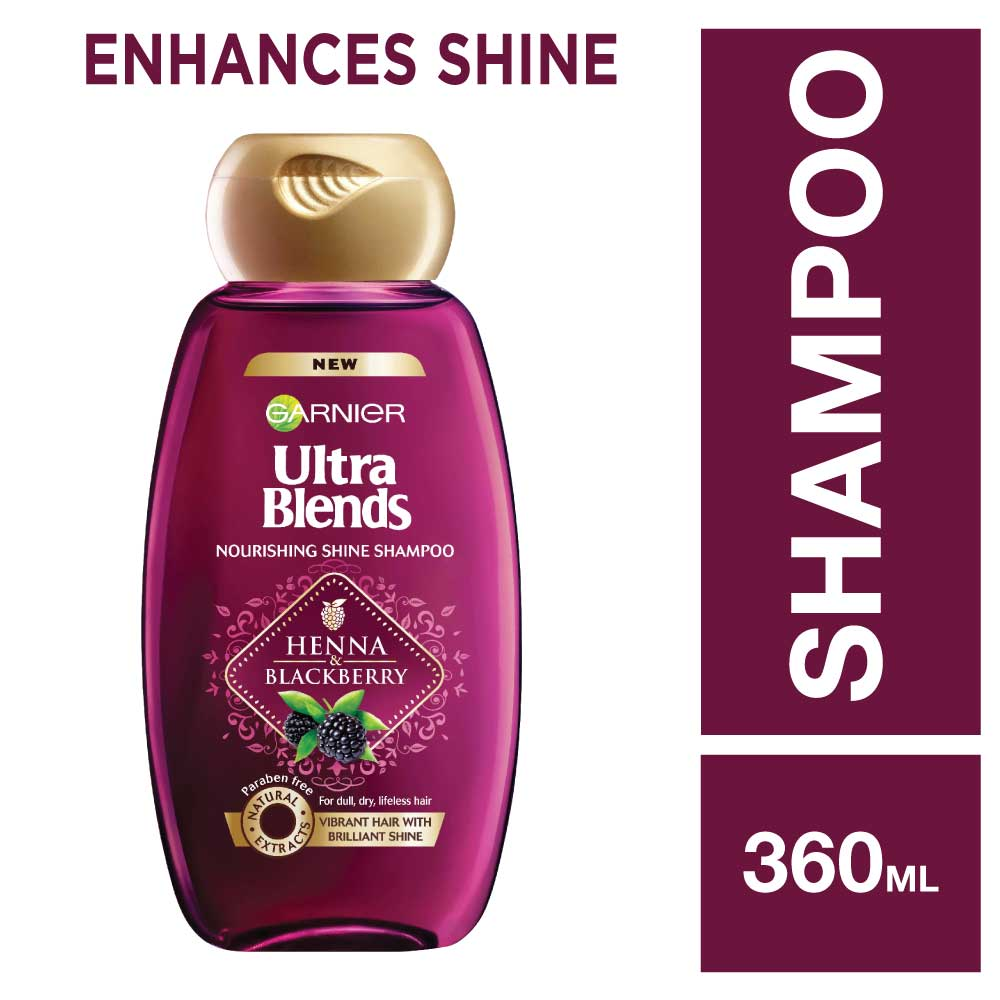 Garnier Ultra Blends Henna Blackberry Shampoo 360ml