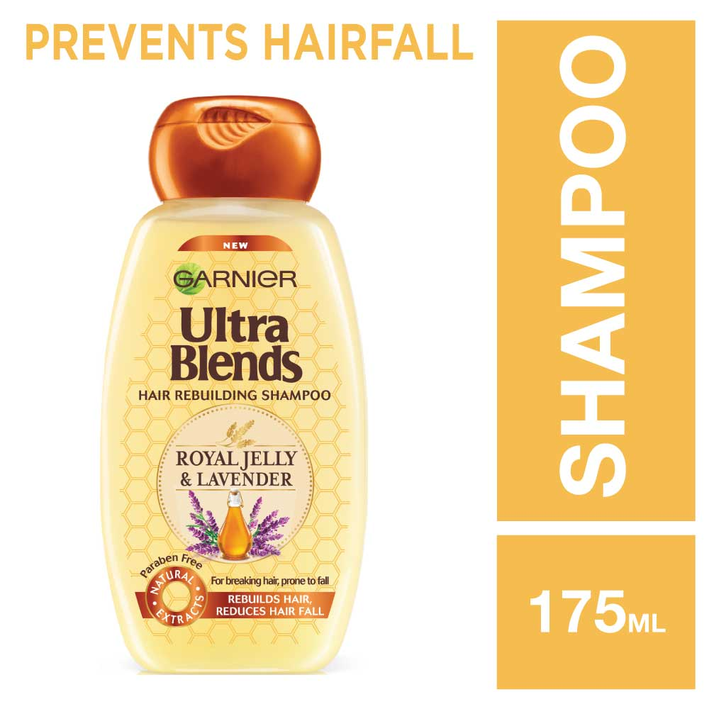 Garnier Ultra Blends Royal Jelly and Lavender Shampoo 175ml