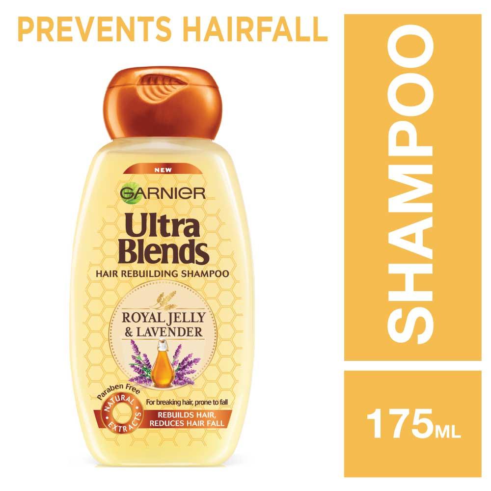 Garnier Ultra Blends Royal Jelly and Lavender Shampoo, 175ml