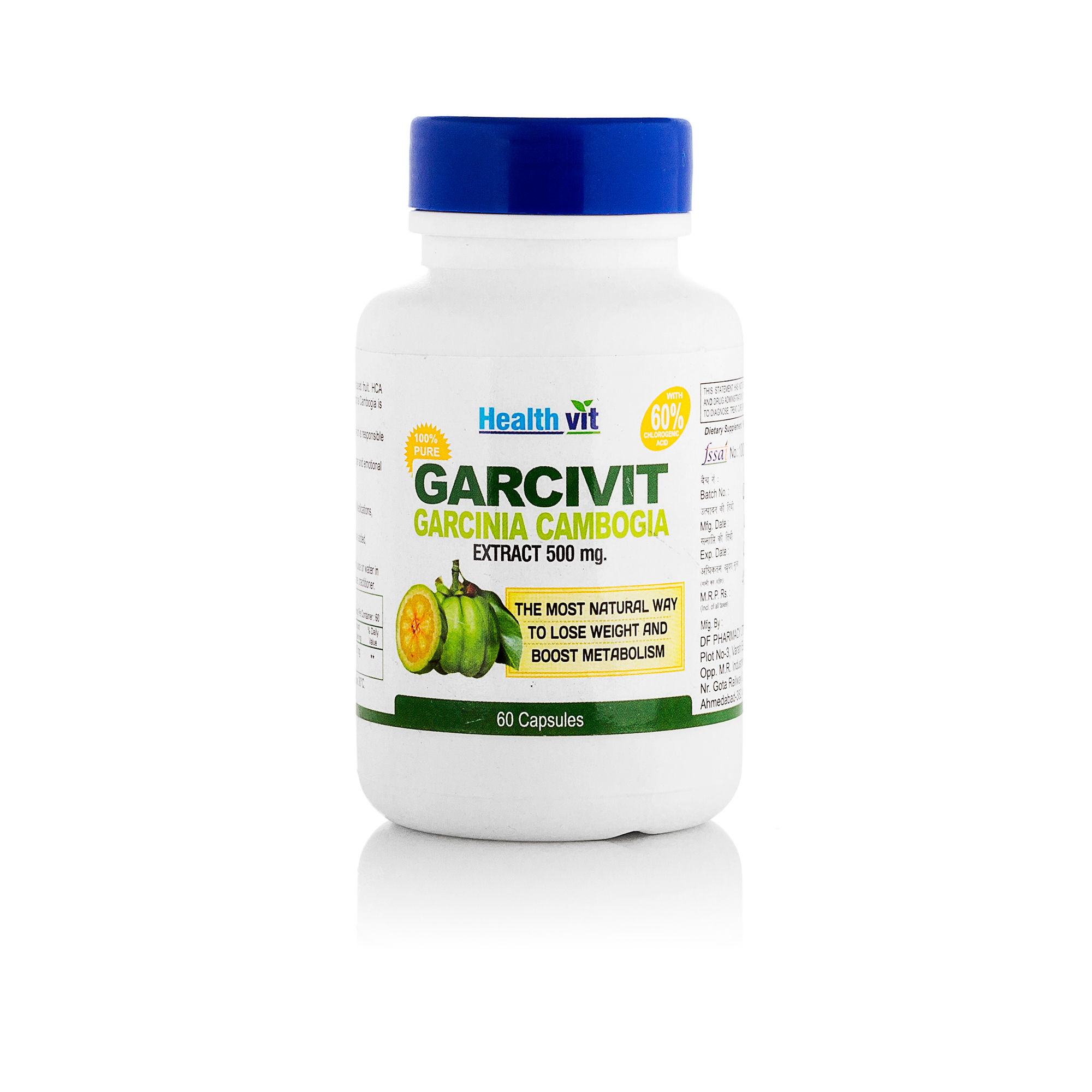 HealthVit Garcivit Garcinia Cambogia 500mg Supplements Pack Of 2