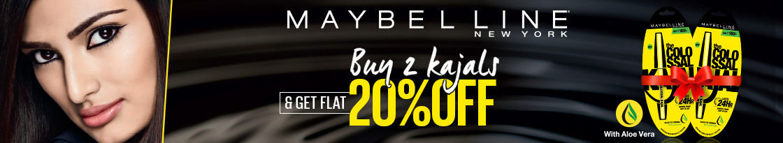 Get upto 20% off on Maybelline