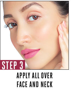 Apply all over face and neck