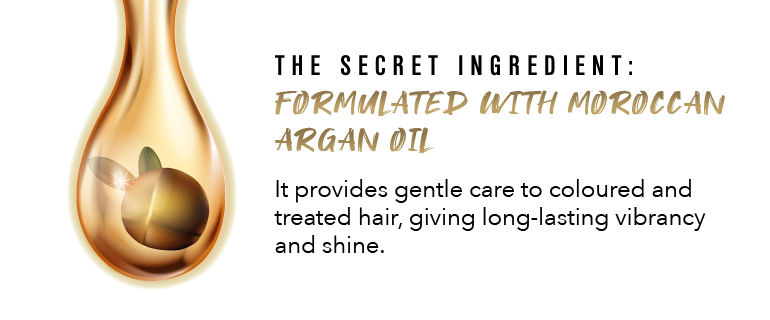 Formulated with moroccan argan oil