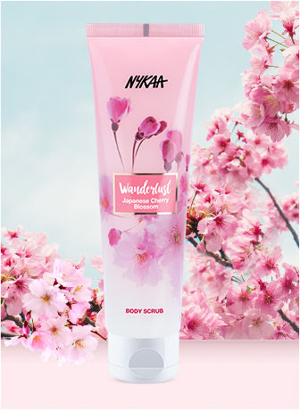 b7e16ab59b Nykaa Wanderlust Japanese Cherry Blossom Body Scrub + Body Milk + ...