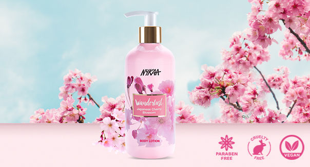 Nykaa Wanderlust Body Lotion - Japanese Cherry Blossom(300ml)