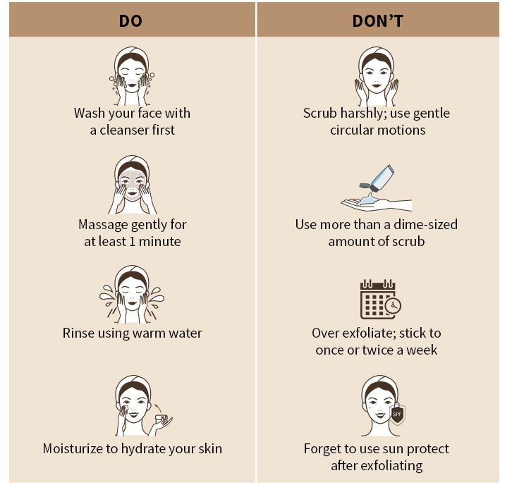 do's and don't to exfoliation