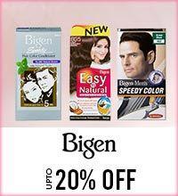 Get Online Offers on Bigen Products Upto 20%