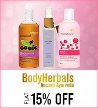 Get Online Offers on Body Herbals Products Flat 15%