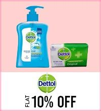 Get Online Offers on Dettol  Products Flat 10%