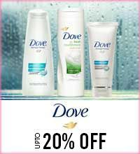Get Online Offers on Dove Products Upto 20%