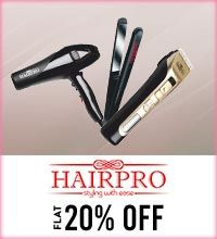 Get Online Offers on Hairpro Products Flat 20%