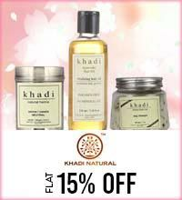Get Online Offers on Khadi Naturals Products Flat 15%