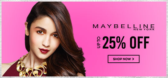 Get Online Offers on Maybelline Products Upto 25%