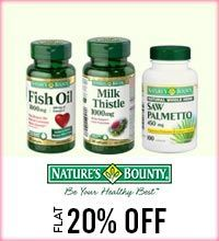 Get Online Offers on Natures Bounty Products Flat 20%