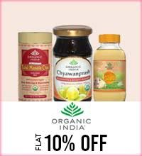 Get Online Offers on Organic India Products Flat 10%