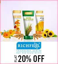 Get Online Offers on Richfeel Products Flat 20%