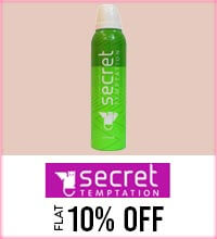 Get Online Offers on Secret Temptation Products Flat 10%