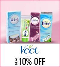 Get Online Offers on Veet  Products Flat 10%