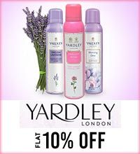 Get Online Offers on Yardley Products Flat 10%