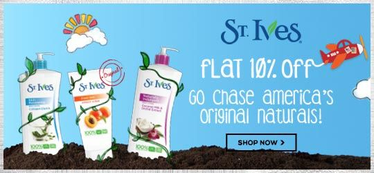 Get Online Offers on St Ives Products Flat 10%